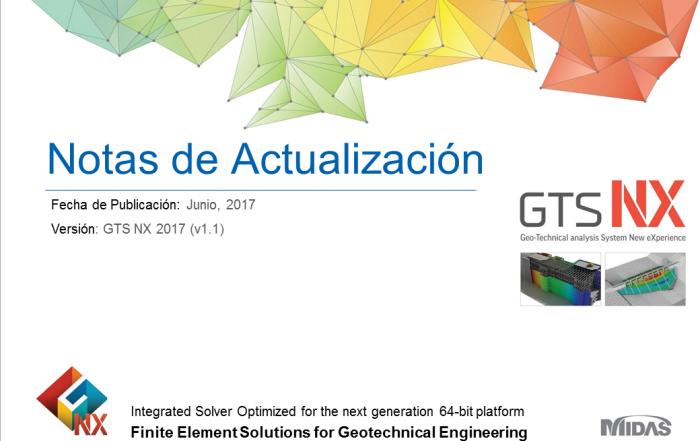 Notas de actualizacion GTS NX 2017